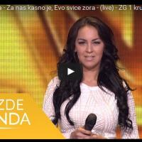 Merima Saitova (Skopje) - Za nas kasno je, Evo svice zora - (live) - ZG 1 krug 16/17 - 22.10.16. EM 5