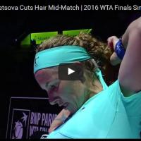 На Кузњецова и тежеше косата, па ја исече среде меч (видео)