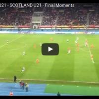 Македонија У21 - Шкотска У21, Последните Моменти