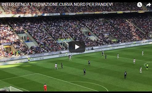 Навивачите на Интер не забораваат: Иако игра за Џенова, Пандев доби овации од навивачите на Интер