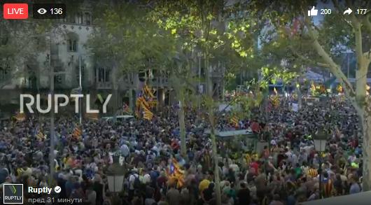 Гледајте во живо | Масовни демонстрации во Барселона (Каталонија)