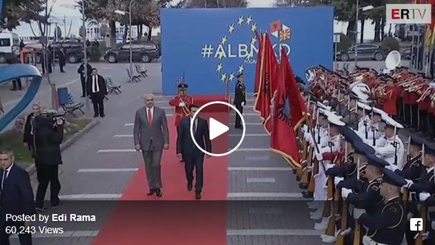 Еве како беше пречекан премиерот Заев во Поградец, Албанија