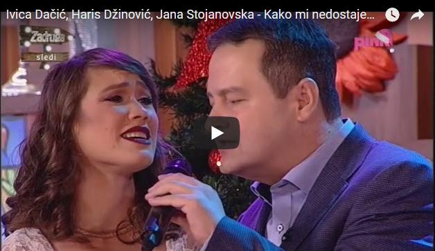 Актерката Јана Стојановска во дует со Ивица Дачиќ