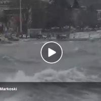 Невреме во Охрид – поплавено е крајбрежјето | 17.03.2018