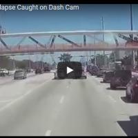 Возач го снимил колапсот на мостот во Мајами, несреќа во која загинаа шест лица