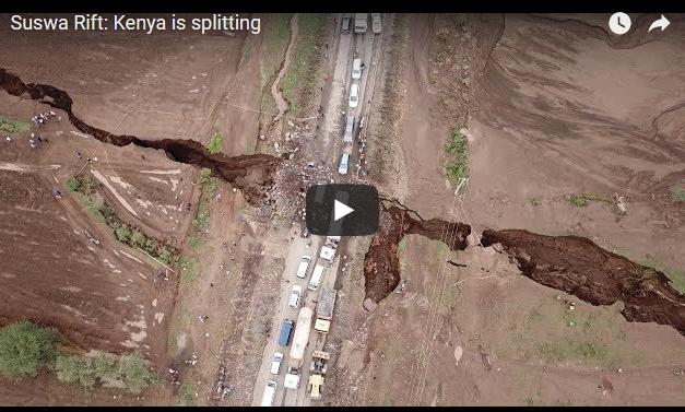 Огромен процеп се шири низ долина во Кенија