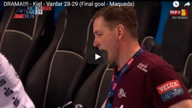 Драма во Кил во последната минута | За една минута од -1 до победа на Вардар од +1