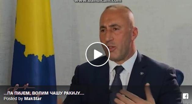 Рамуш Харадинај – премиер на Косово во емисијата CIRILICA …ПА ПИЈЕМ, ВОЛИМ ЧАШУ РАКИЈУ…. -Дали сте неко убили у рат -НЕЗНАМ…