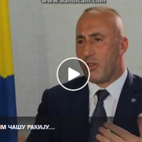 Рамуш Харадинај - премиер на Косово во емисијата CIRILICA ...ПА ПИЈЕМ, ВОЛИМ ЧАШУ РАКИЈУ.... -Дали сте неко убили у рат -НЕЗНАМ...