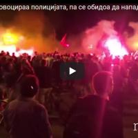 Комити со провокација кон полицијата и во расправија со новинарот Љупчо Златев