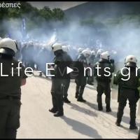 Грчки медиуми: Демонстранти се судрија со полицијата во Нивици