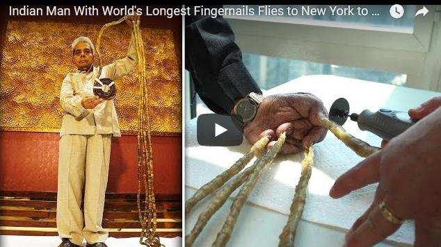 Индиец си ги исече ноктите првпат после 66 години