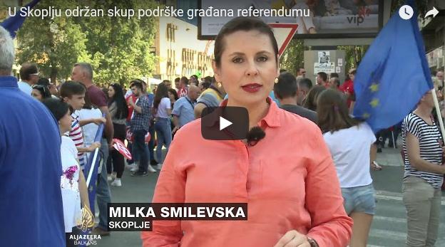 И Al Jazeera Balkans известуваше за денешниот марш