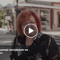 """""""Граѓаните на Македонија заслужуваат европска иднина. Излези и гласај ЗА"""" - Виолета Томовска"""
