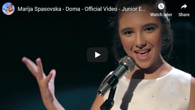 """Марија Спасовска со прекрасната балада """"Дома"""" ќе ги брани боите на нашата земја на детскиот Евросонг"""