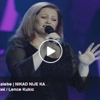 """Ленче Кукиќ од Струмица со сите емоции - """"Галебе мој тажен"""" полн погодок во """"Nikad Nije Kasno"""""""