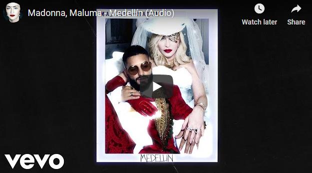"""Мадона го објави дуетот со Малума – """"Medellín"""""""