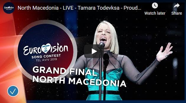 """Тамара ГОРДО запиша нов рекорд со осмо место на """"Евровизија 2019"""""""