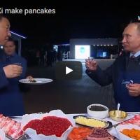 Путин и Ѓинпинг правеа палачинки па наздравија со вотка
