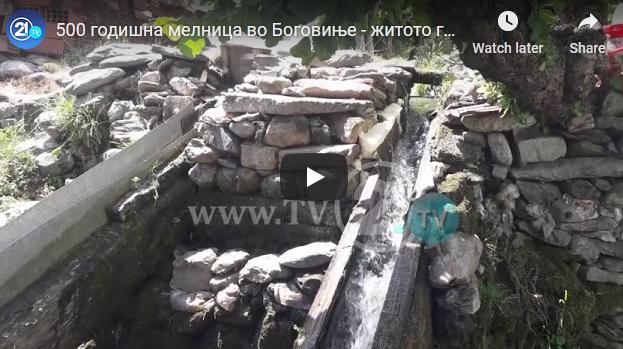 500 годишна мелница во Боговиње – житото го меле со камен што го врти вода
