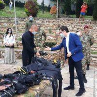 Пендаровски во Охрид го посети армискиот нуркачки тим од Баталјонот на специјалните сили