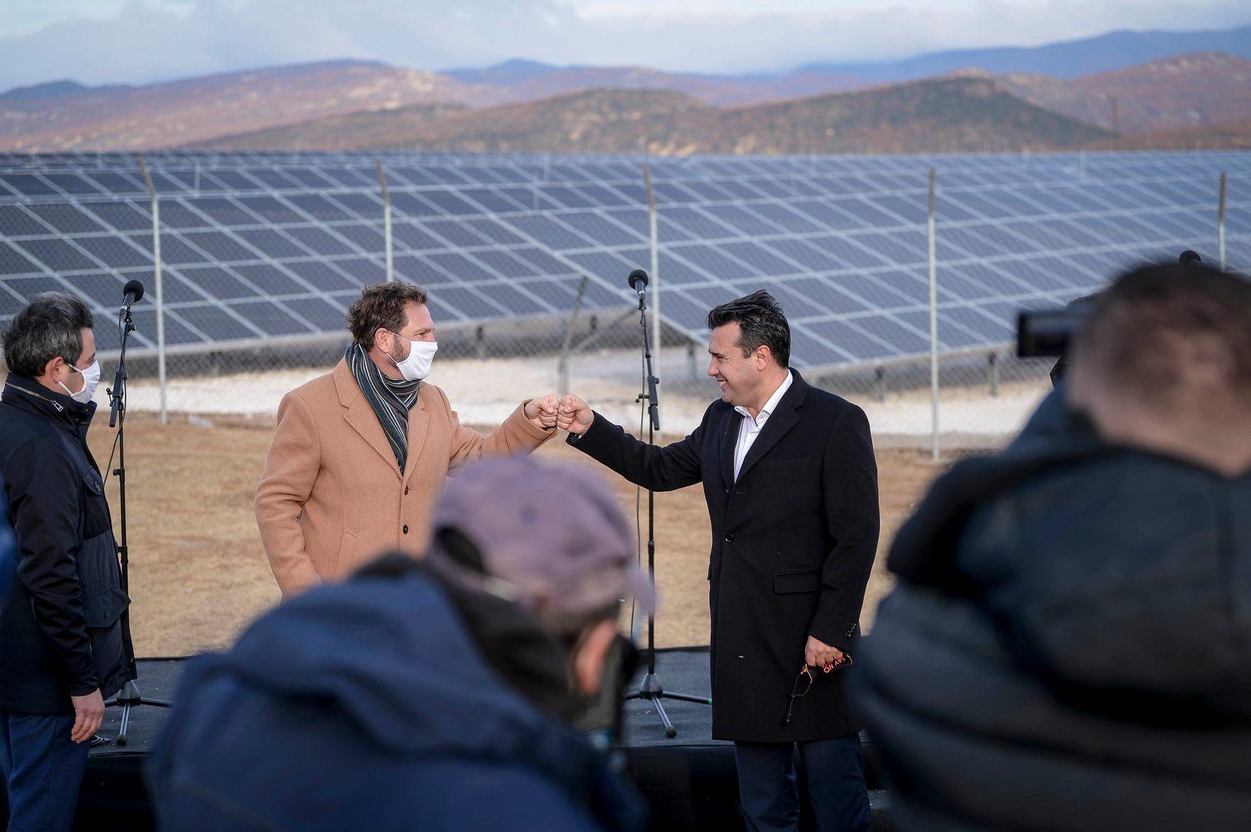 ЕВН Македонија ја изгради првата фотонапонската централа од двострани панели во земјата