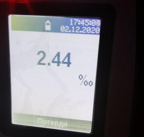 Приведен возач на камион од Русија со 2,44 промили алкохол