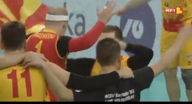 """Солзи, радост, еуфорија – И одбојкарите со """"Бисер Балкански"""" се пласираа на ЕП (ВИДЕО)"""