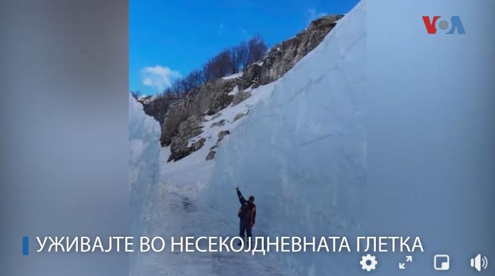 Се уште се пробива патот Маврово – Галичник, на места и до 10 метри снег